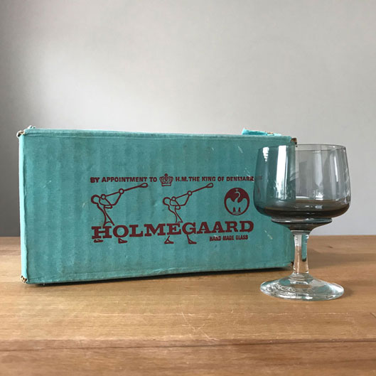 北欧ビンテージワイングラス・デンマーク直輸入 デンマーク食器/Holmegaardホルムガード(アトランティックatlantic)/Portワイングラス 6個セット 箱付