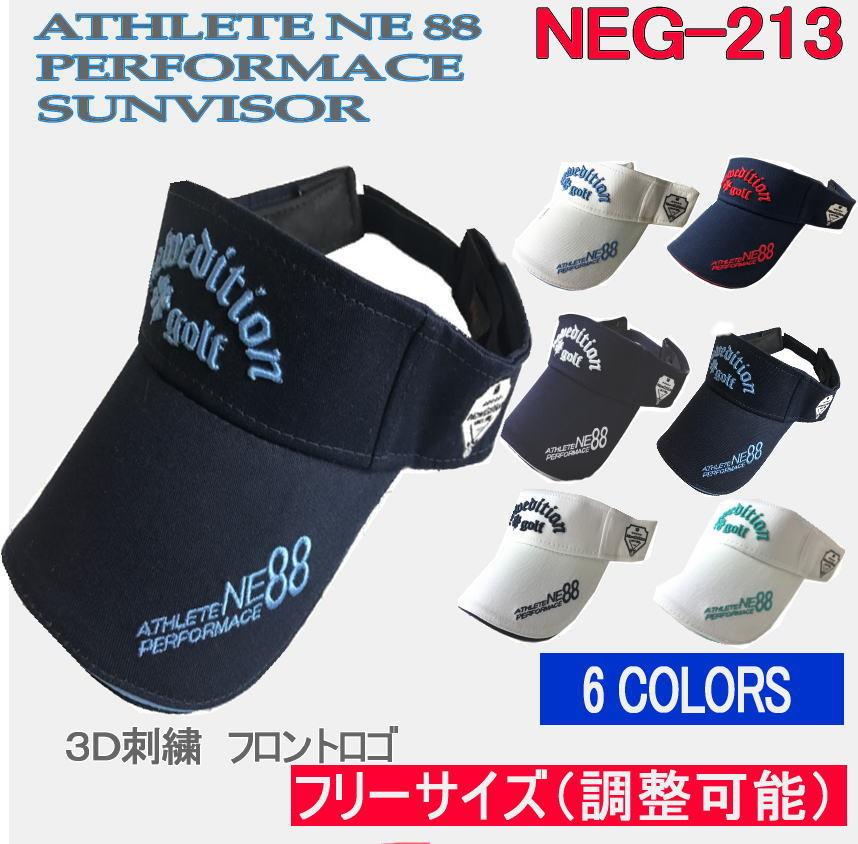 どんなシャツににも合う 6色カラーバリエーション 5%OFF ゴルフ 引き出物 キャップ 帽子 サンバイザー メンズ カラー フィット NEG-213 スーパーSALE おしゃれ フリーサイズ NewEdition コットン綿 GOLF 3D刺繍