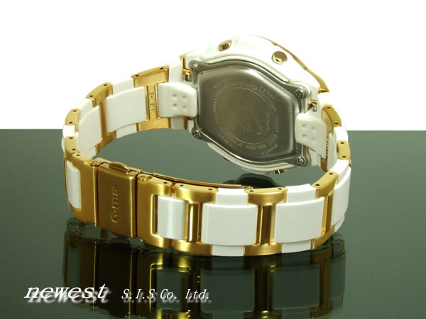 Casio Baby-G G-MS MSG-300G-7B white X gold foreign countries model