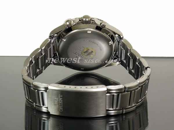 Orient many years calendar SEU03002WH self-winding watch silver foreign countries model watch