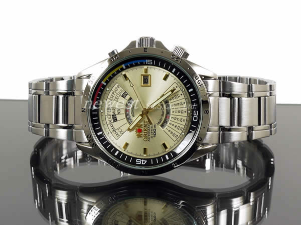 Orient many years calendar SEU03002CW self-winding watch champagne foreign countries model watch