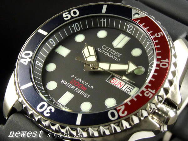 Citizen self-winding watch 200m waterproofing divers NY2300-09G men foreign countries model
