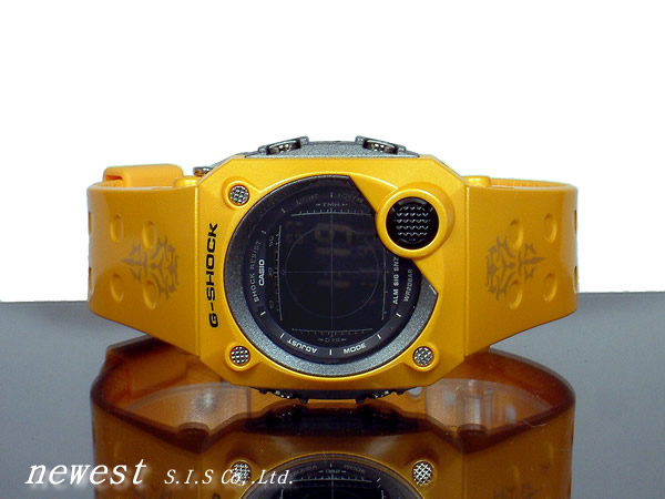 Casio g-shock G-shock G-8000F-9B light and sound at alarm alarm timer with LED indicator metallic Yellow Watch