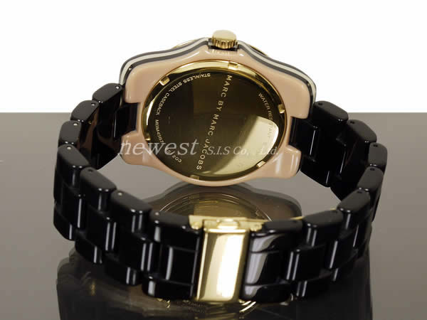 Mark by MARC BY marc jacobs Bubble Plastic Stripe bubble plastic stripe MBM4567 black X gold watch