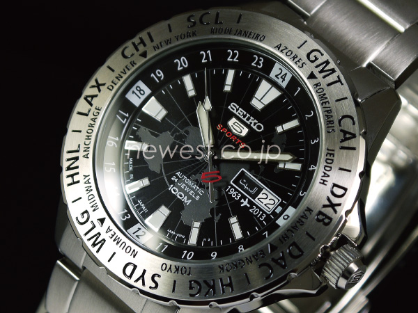 Model SRP431 black X silver watch of the 50th anniversary of 5 SEIKO SEIKO SPORTS