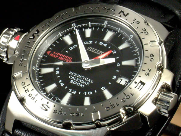 Seiko perpetual calendar simple compass MAP distance measurement with SLT109P2 overseas model watch