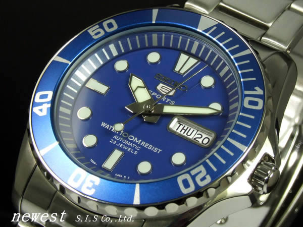 Seiko 5 sports automatic winding SNZF13K1 foreign model blue