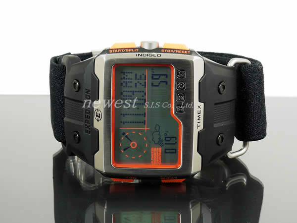 TIMEX Timex远征WS4(Wide Screen 4 Function)T49665黑色×橙子手表