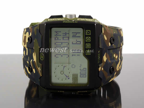 TIMEX Timex遠征WS4(Wide Screen 4 Function)T49840僞裝色手錶