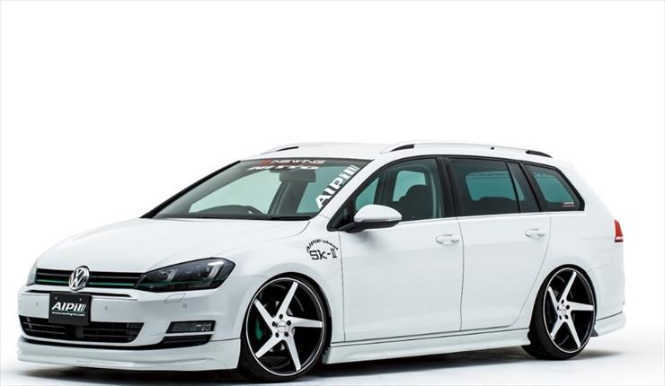 【T-ポイント5倍】 Alpil Volkswagen Golf 7 Variant Front Lip Spoiler フロントリップスポイラー CARBON, Golder ゴールダー c4ba66ed