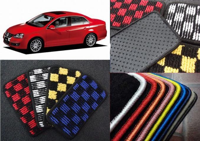 フロアマットNEWING☆チェックシリーズ一台分!!カーインテリアのプロ!ニューイングが作る車種専用設計VW ジェッタ用(JETTA用)