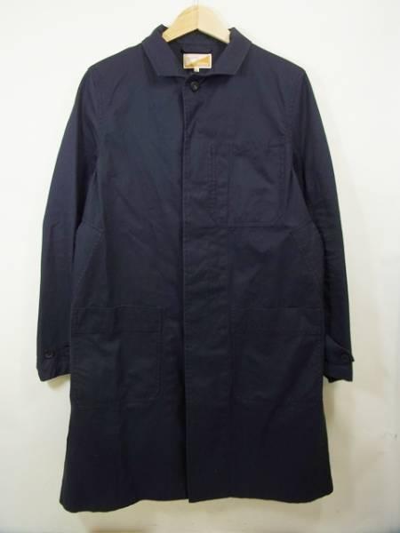 ジャーナル別注 SOUNDMAN ステンカラーコート 紺 中古 商い サウンドマン セール価格 38