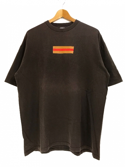 00SS SUPREME Gucci Box Logo S/S Tee (BROWN) XL シュプリーム グッチ ボックスロゴ 半袖 Tシャツ 茶 ブラウン グッチカラー 初期 つるタグ 【中古品】