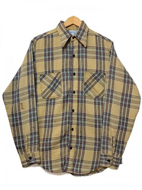 70s BIG MAC Check Flannel L 激安挑戦中 S 新色 Shirt ベージュ 古着 アメカジ チェック柄 長袖シャツ M-TALL ビッグマック ネルシャツ 中古