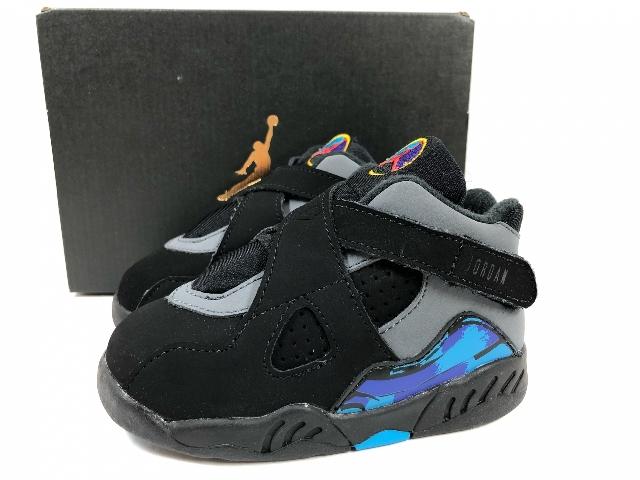 sale retailer 02b37 5901a Product made in 15 years NIKE AIR JORDAN 8 RETRO BT US6C/12cm black blue  Nike Air Jordan 8 nostalgic aqua 305,360-025
