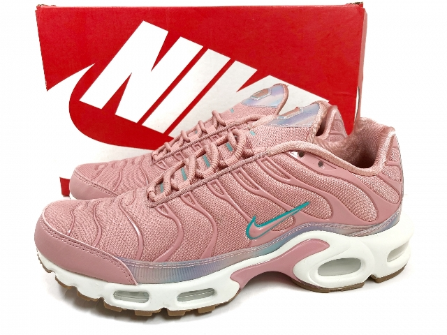 new product aliexpress los angeles NIKE AIR MAX PLUS SE RED STARDUST WMNS US10/27.0 pink Kie Ney AMAX plus  rainbow overlay 862,201-600 made in Japanese non-release 17 years
