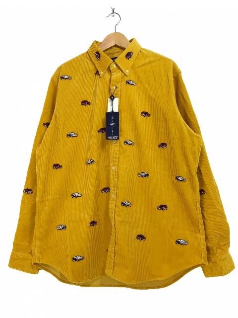 PALACE SKATEBOARDS × Polo Ralph Lauren Embroidered Cord Gti Shirt (YELLOW) パレス ラルフローレン 長袖シャツ 【新古品・未使用】