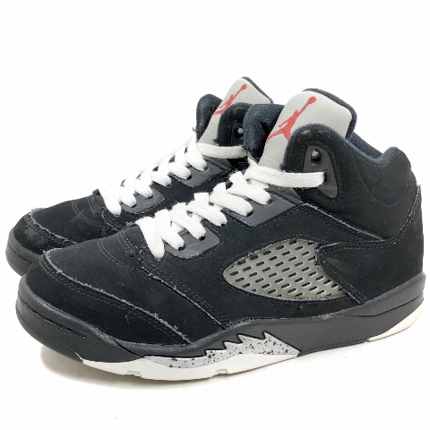 online retailer 36143 a1741 Product made in 16 years NIKE AIR JORDAN 5 RETRO OG BP black US2Y/21.0 Nike  Air Jordan 5 nostalgic kids 440,889-003