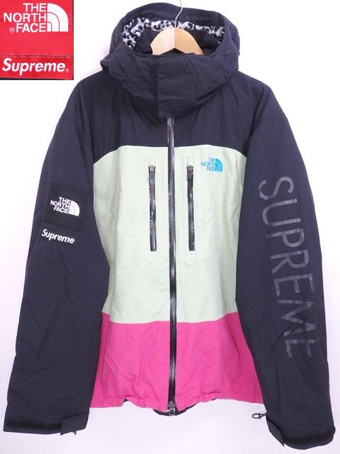 07SS SUPREME × THE NORTH FACE MOUNTAIN SUPREME GUIDE JACKET 黒ピンク XL シュプリーム ノースフェイス コラボ 1st マウンテンパーカー【中古】