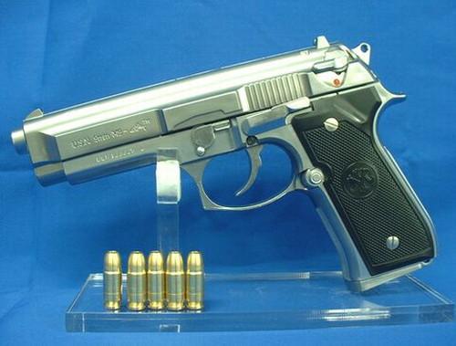 モデルガン マルシン U.S.N.9mm M9 ドルフィン マシンピストル シルバーモデル