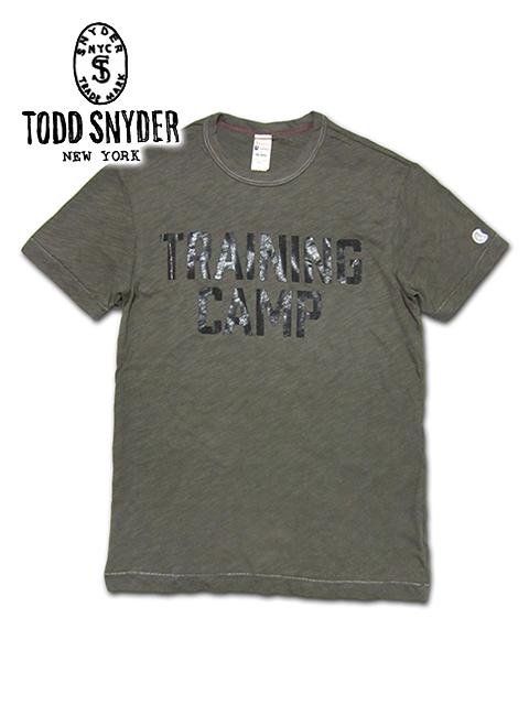 """【最安値に挑戦】【メンズ Tシャツ・オリーブ】TODD SNYDER×CHAMPIONトッドスナイダー×チャンピオン【S M L XL】厚手の上質なコットンを使用した""""トッドスナイダー×チャンピオンコラボレーションTシャツ""""10P05Nov16"""