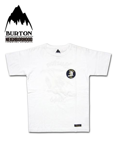 """【送料無料】【あす楽対応】【メンズ Tシャツ・ホワイト】Burton by NEIGHBORHOODバートン バイ ネイバーフッド【S M L XL】厚手の上質なコットンを使用した""""バートンプレミアコラボレーションモデル"""""""