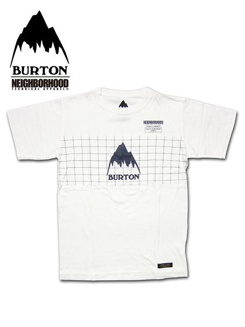 """【送料無料】【あす楽対応】【メンズ Tシャツ・オフホワイト】Burton by NEIGHBORHOODバートン バイ ネイバーフッド【S M L XL】上質なコットンを使用した""""バートンプレミアコラボレーションモデル"""""""