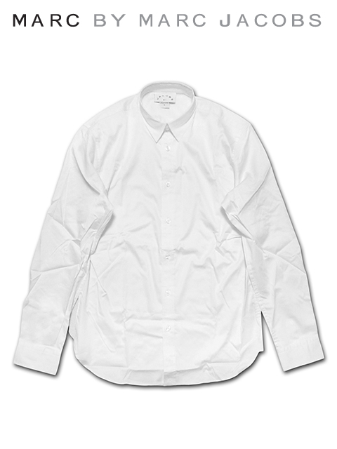 """【送料無料】【あす楽対応】【メンズ ロングスリーブシャツ・ホワイト】MARC BY MARC JACOBSマークバイマークジェイコブス【S M L XL】""""マークジェイコブスのオーソドックスシャツ"""""""