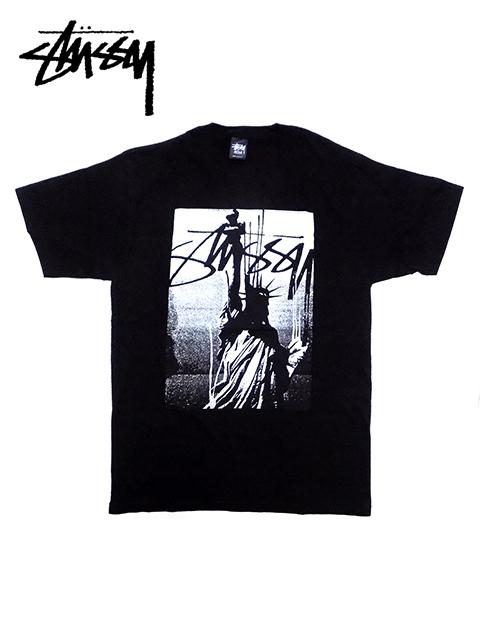"""【送料無料】【あす楽対応】【メンズ Tシャツ・ブラック】Stussyステューシー【M L】""""ステューシープリントデザインTシャツ"""""""