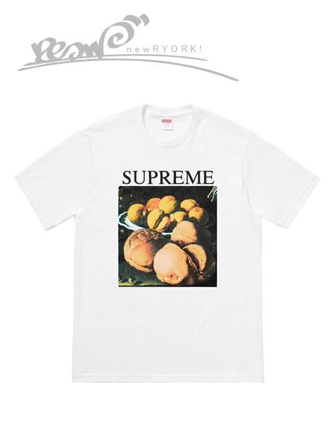 """【送料無料】【あす楽対応】【メンズ Tシャツ・ホワイト】Supremeシュプリーム【STILL LIFE TEE】【FW18T40】【L】""""シュプリームスティルライフTシャツ"""""""