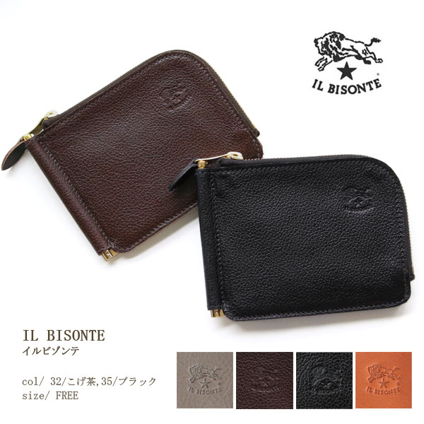 0aaf40984650 送料無料 イルビゾンテ正規取扱店 IL BISONTE 財布 IL BISONTE(イルビゾンテ)マネークリップ付き