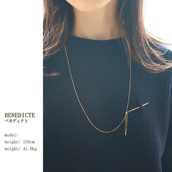 BENEDICTE(ベネディクト) ネックレス Needleネックレス(AIG46)MADE IN PARIS ハンドメイドアクセサリー