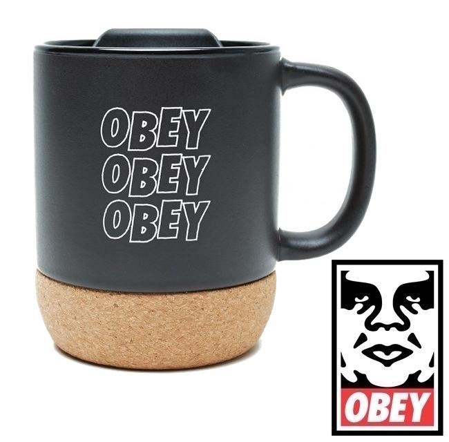 送料無料 OBEY 2020新作 オベイ Jumble Stacks アウトレットセール 特集 Cork Mug SKATE スケート マグカップ プレゼント 贈り物 日用品 ストリート