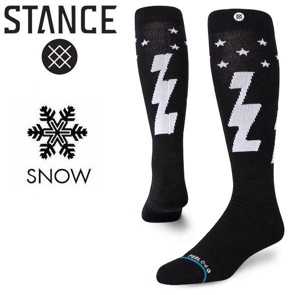 授与 メール便 限定モデル 送料無料 代引不可 STANCE スタンス FULLY CHARGED ソックス 靴下 socks sox INFIKNIT snow 寒さ対策 メリノウール スノーボード 雪山 ブラック 防寒 BLACK インフィニット 冬 スキー
