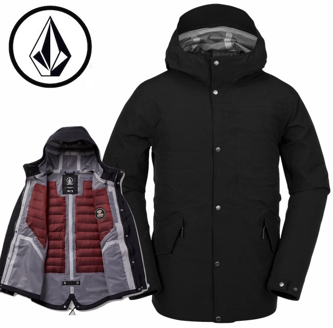 VOLCOM ボルコム LANE TDS PARKA ジャケット アウター 中綿 防水 防寒 スノーボード スケボー スポーツ アウトドア ロゴ タウンユース メンズ BLACK