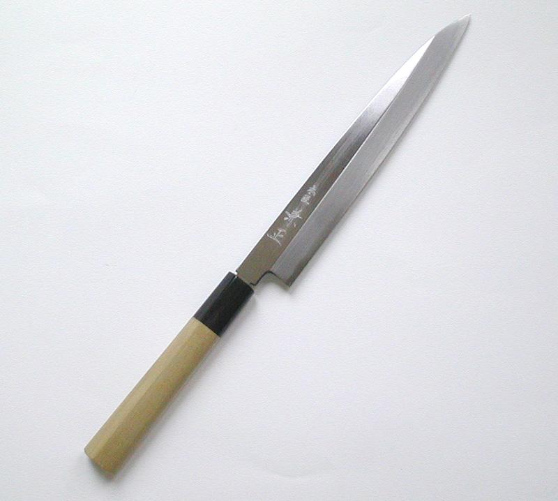 【本匠兼正】 水牛柄 カスミ研 柳刃 210mm