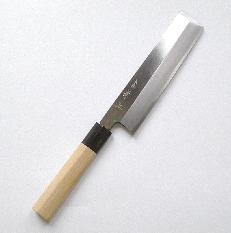 【本匠兼正】 水牛柄 カスミ研 東型 薄刃 180mm