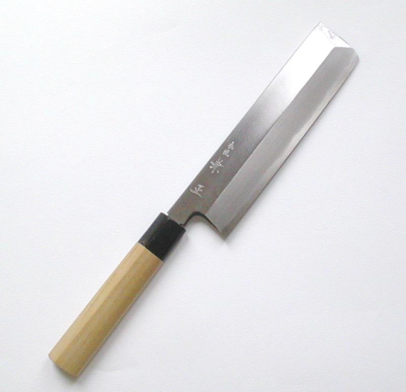 【本匠兼正】 水牛柄 カスミ研 東型 薄刃 195mm
