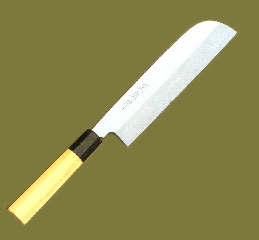 【正広】 本焼 鎌型薄刃 210mm