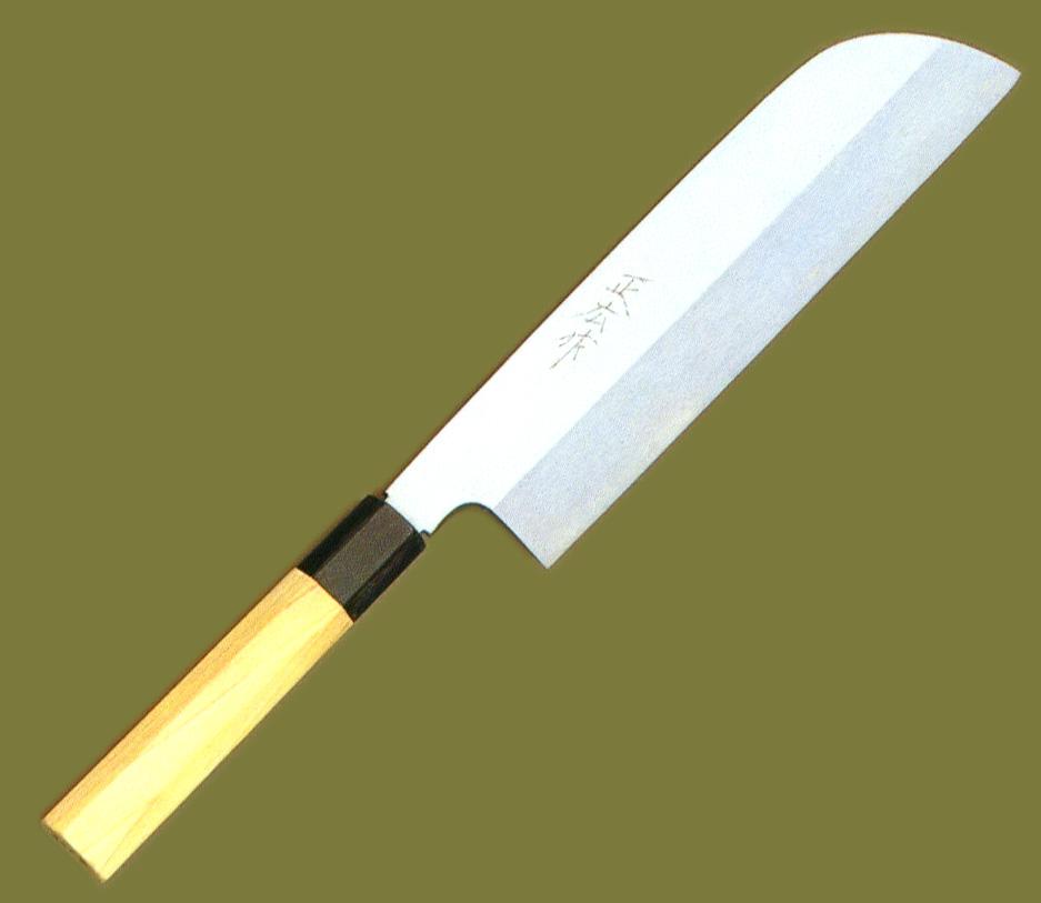 【正広】 本焼 鎌型薄刃 240mm