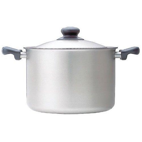 柳宗理 ステンレス・アルミ3層鋼 IH対応 両手鍋 深型 つや消し 22cm