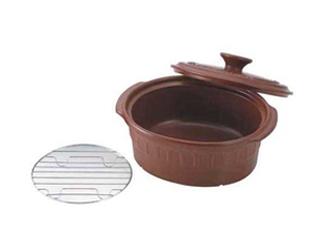 ニュートーセラム 両手鍋小判型 24cm 茶 TSR-190OPM