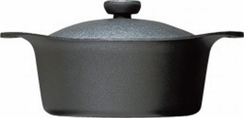 柳宗理 南部鉄器 鉄鍋 深型 22cm 鉄ふた・ハンドル付