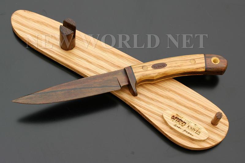 新着 オール天然木でできたナイフ HIRO 使い勝手の良い ウッドクラフトナイフ ヒロ