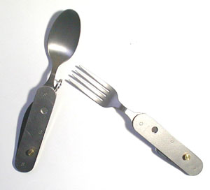 Titanium camping knives spoons forks with