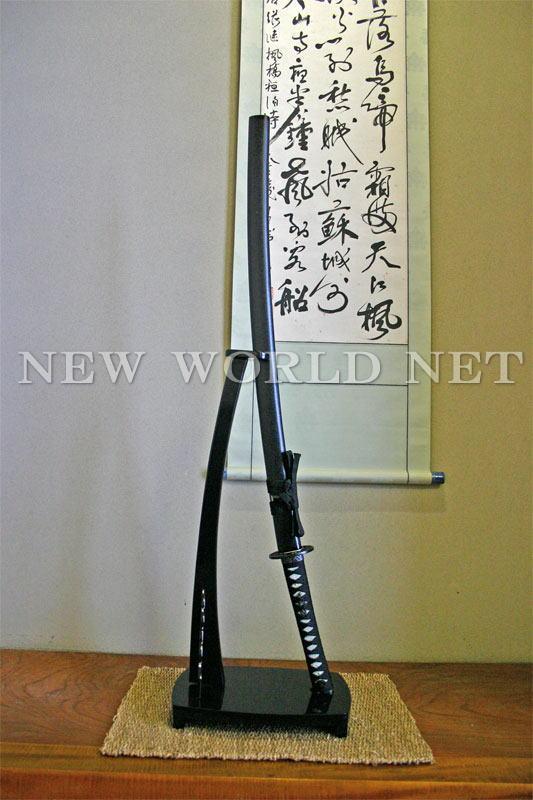 【美術模造刀剣】 黒石目 大刀 AB-109