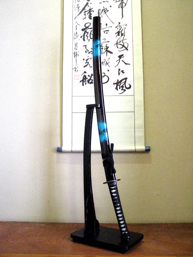 【美術模造刀剣】 青龍(マーブル青)
