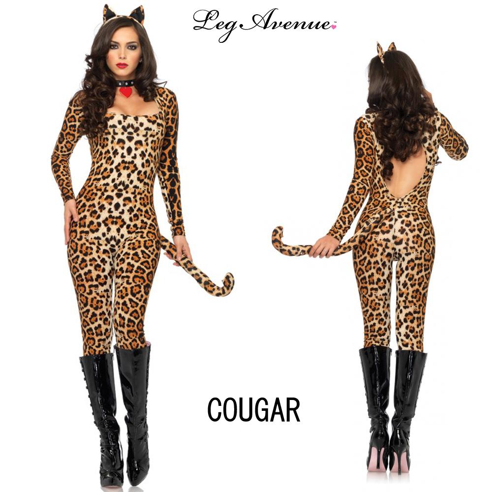 Leg Avenue Leg Avenue Halloween cosplay animal animal cosplay women s Cougar  costume Leopard pattern XS (No. 7) 39297bc9b