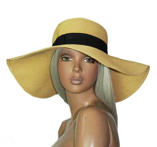 セール 帽子 つば広 あす楽 ベージュ ストローハット 正規逆輸入品 出群 ハット ナチュラル 女優帽