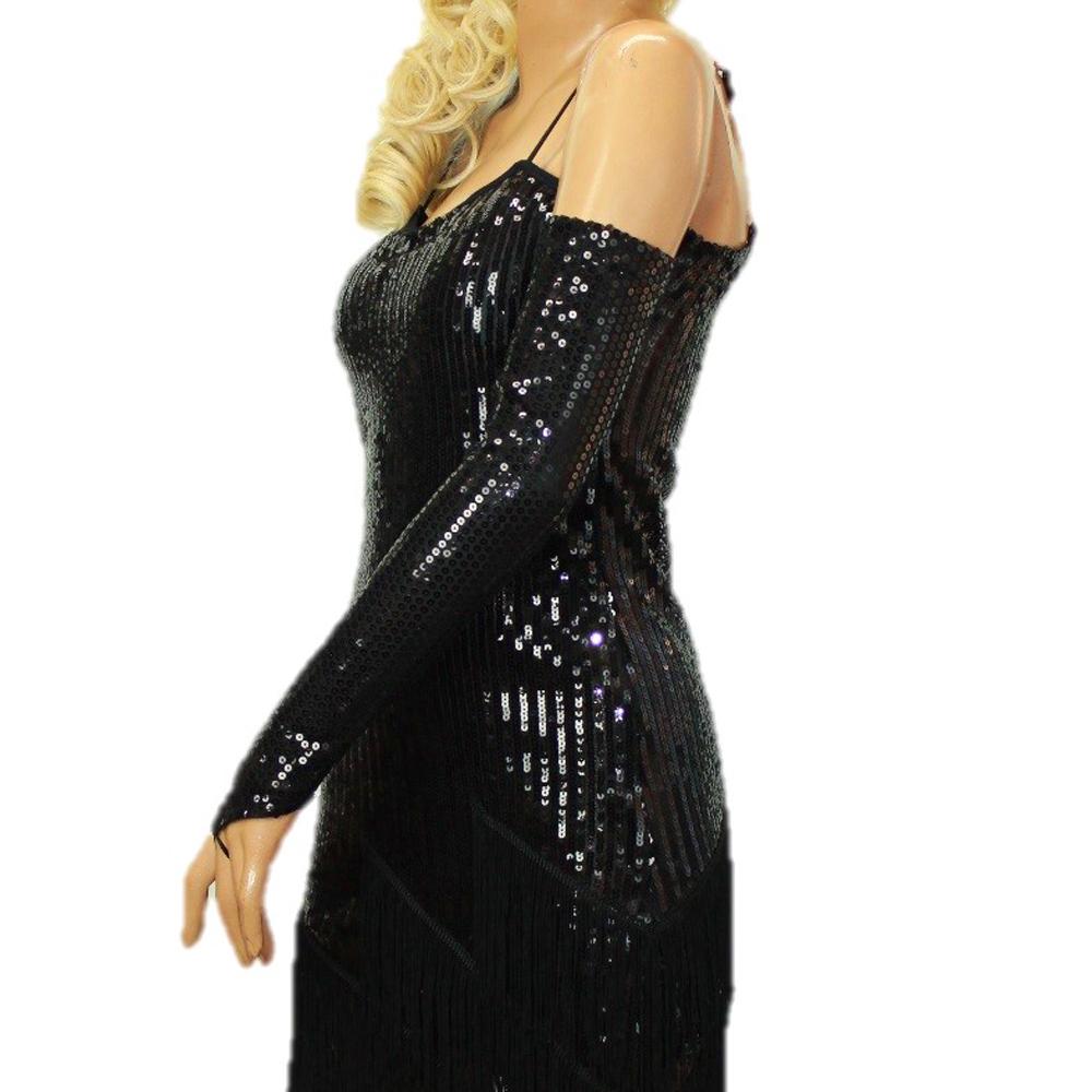 スパンコール ダンス 衣装 あす楽 アームウォーマー グローブ 新作 人気 手袋 パーティー 公式 フィンガーレス ブラック 結婚式 MLサイズ シルバー SMサイズ 肘上丈 指なし